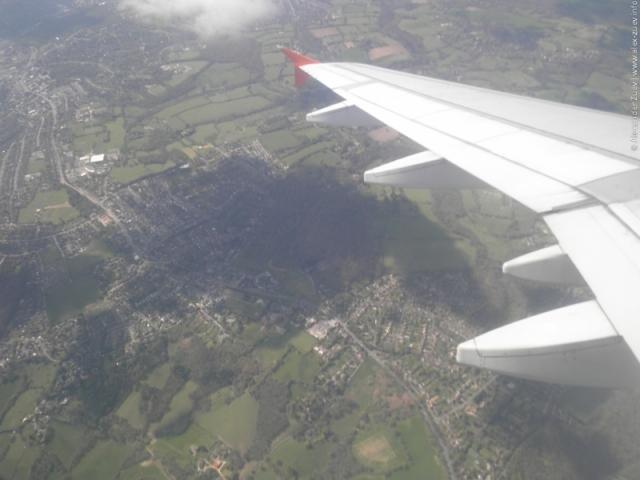 Вид из самолета на Великобританию