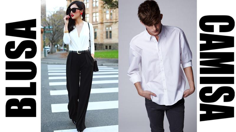 Blusa (блузка), Camisa (рубашка)