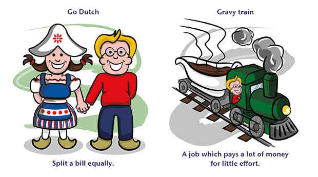 Идиома - Go Dutch (каждый платит за себя)