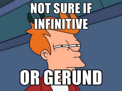 В каких случаях используется герундий, а в каких инфинитив?