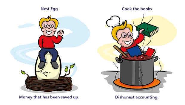 Идиома - nest egg (сбережения на чёрный день)