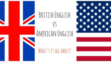 Флаг Америки и флаг Великобритании
