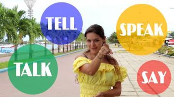 Видеоурок английского. Разница между tell, say, speak, talk